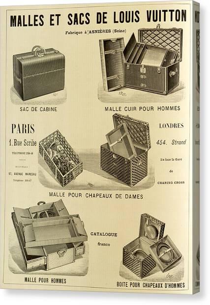 Canvas Print - Vintage Louis Vuitton Advertisement - 1898 by Mountain Dreams