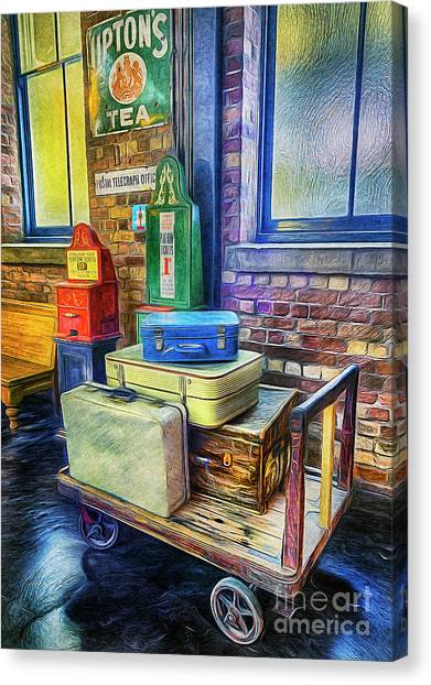 Vintage Luggage Canvas Print