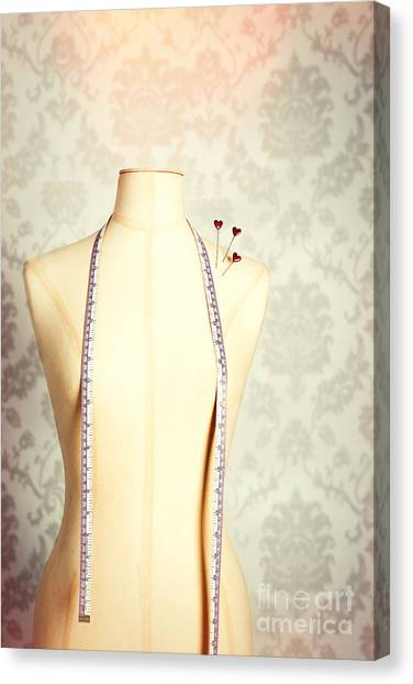 Dummies Canvas Print - Vintage Mannequin With Tape Measure by Amanda Elwell
