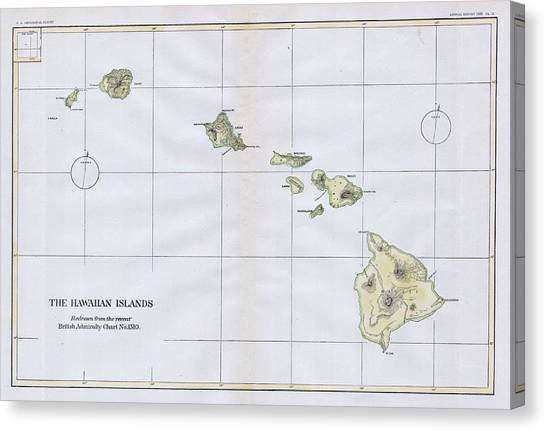 photo about Printable Map of Hawaiian Islands named Hawaiian Islands Map Canvas Prints Fantastic Artwork The united states