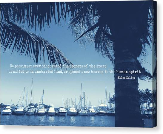 Vintage Miami Quote Canvas Print by JAMART Photography