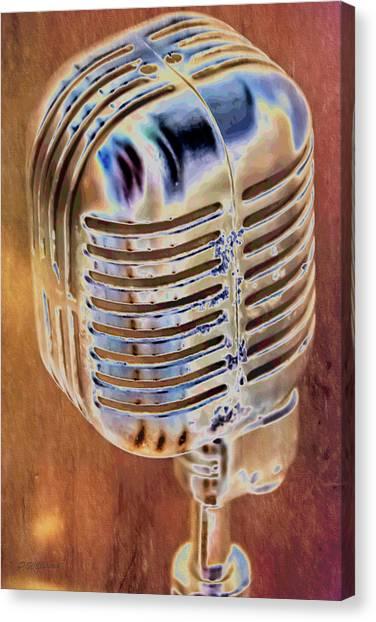 Vintage Microphone Canvas Print