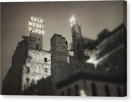Vintage Mill City Canvas Print