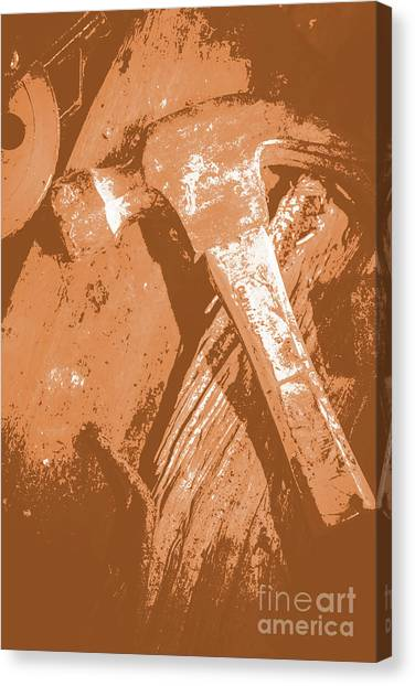 Tools Canvas Print - Vintage Miners Hammer Artwork by Jorgo Photography - Wall Art Gallery