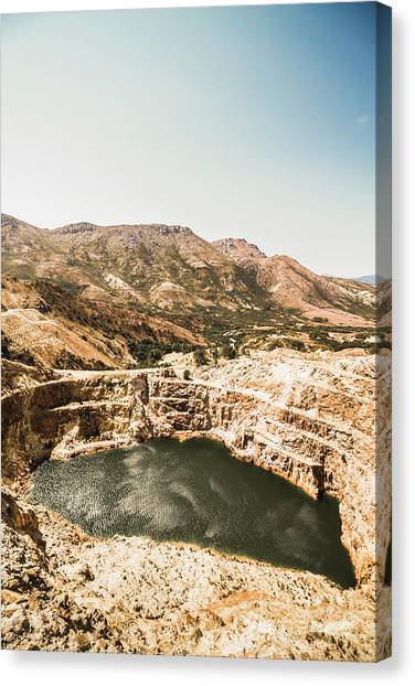 Open Canvas Print - Vintage Mining Pit by Jorgo Photography - Wall Art Gallery