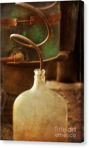 Vintage Moonshine Still Canvas Print