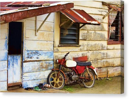 Vintage Motorbike Canvas Print