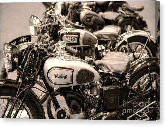 Vintage Motorcycles Canvas Print
