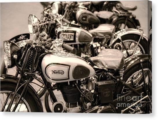 Vintage Motorcycles Canvas Print