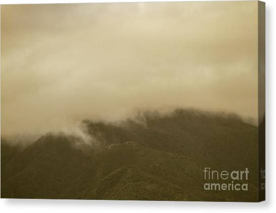 Mountainscape Canvas Print - Vintage Mountains Covered By Cloud by Jorgo Photography - Wall Art Gallery