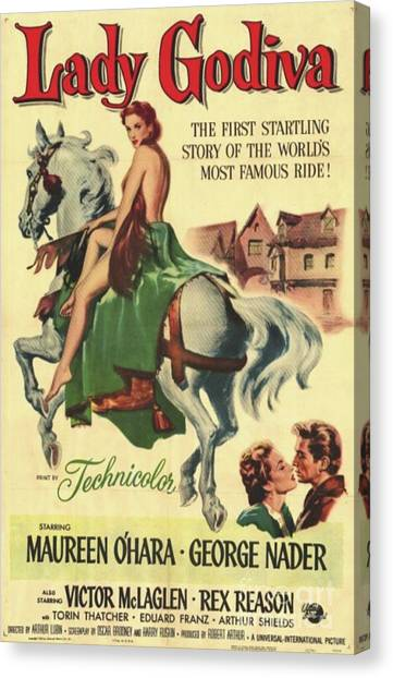 Maureen Canvas Print - Vintage Movie Posters, Lady Godiva by Esoterica Art Agency