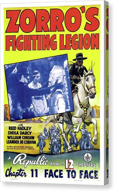The Legion Canvas Print - Vintage Movie Posters, Zorro's Fighting Legion by Esoterica Art Agency