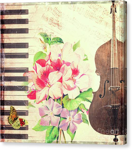 Cellos Canvas Print - Vintage Music by Delphimages Photo Creations