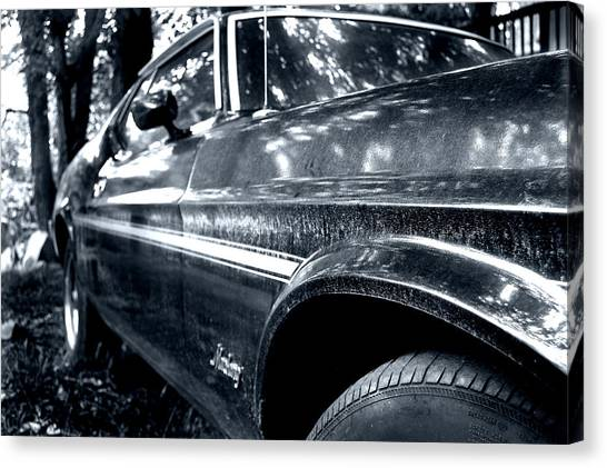 Vintage Mustang Canvas Print by Heather S Huston
