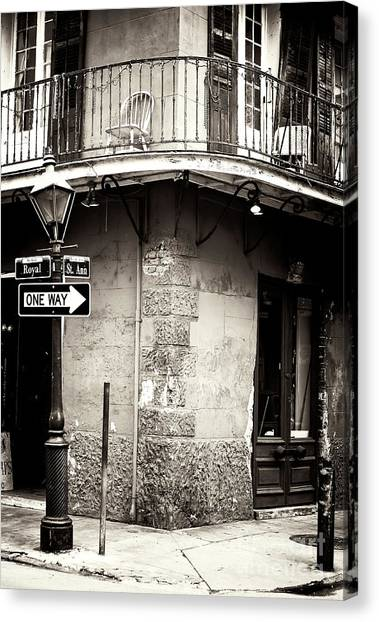 Vintage New Orleans French Quarter Canvas Print