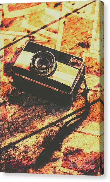 Vintage Camera Canvas Print - Vintage Old-fashioned Film Camera by Jorgo Photography - Wall Art Gallery