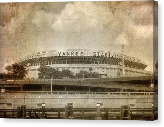 Vintage Old Yankee Stadium Canvas Print
