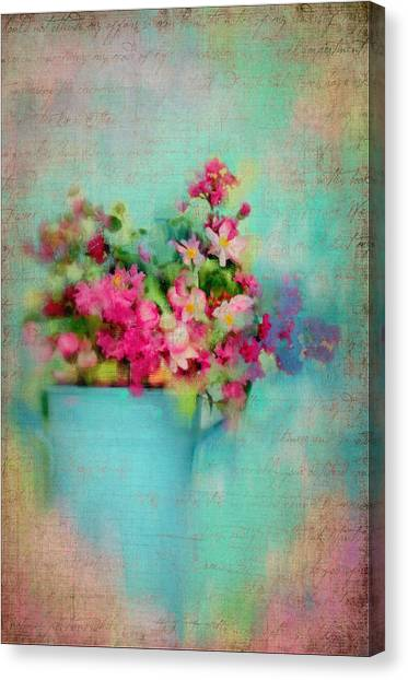 Flowers From A Cottage Garden Canvas Print