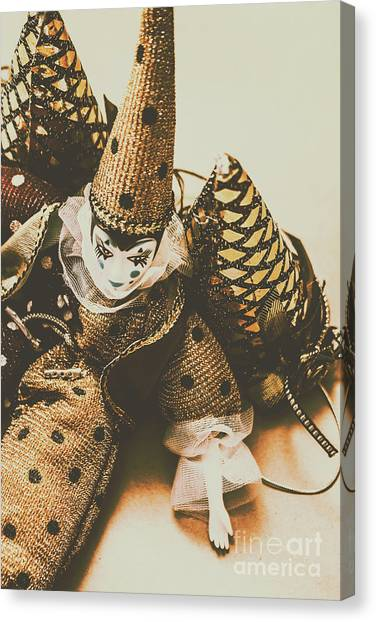Clown Art Canvas Print - Vintage Party Puppet by Jorgo Photography - Wall Art Gallery