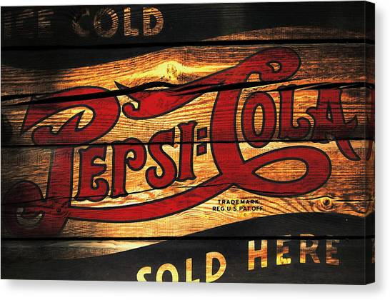 Mountain Dew Canvas Print - Vintage Pepsi-cola Sign 1a by Brian Reaves