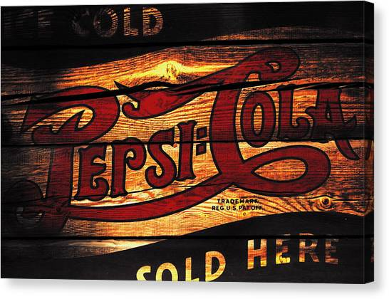 Mountain Dew Canvas Print - Vintage Pepsi-cola Sign 1b by Brian Reaves