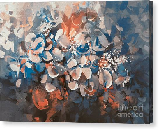 Canvas Print featuring the painting Vintage Petal by Tithi Luadthong