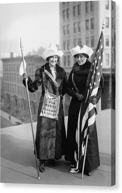 Vintage Photo Suffragettes Canvas Print