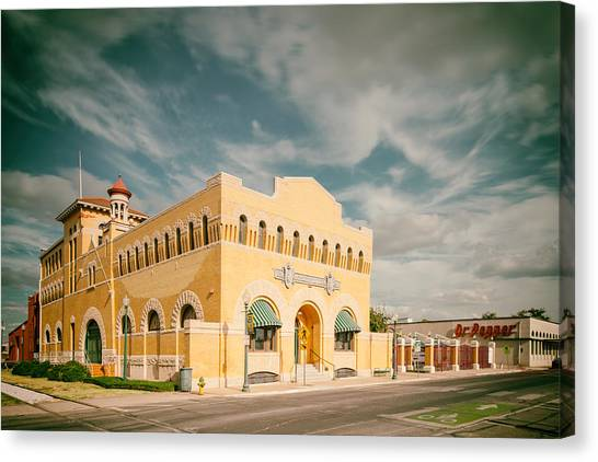 Dr. Pepper Canvas Print - Vintage Photograph Of Dr. Pepper Museum In Waco Texas by Silvio Ligutti