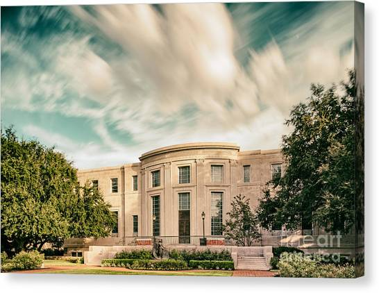 Baylor University Canvas Print - Vintage Photograph Of The Armstrong Browning Library - Baylor University - Waco Central Texas by Silvio Ligutti