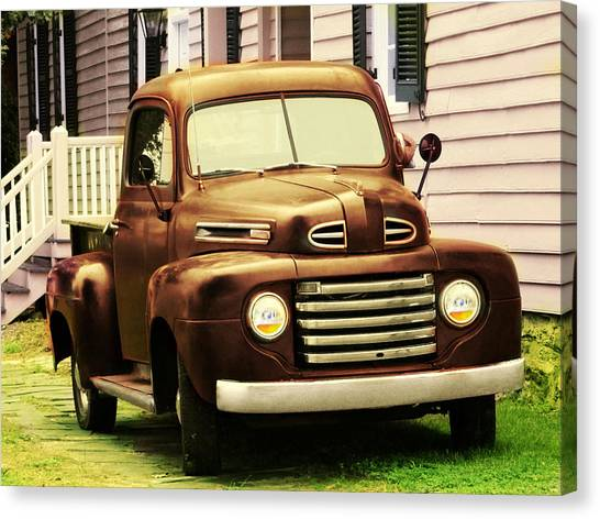 Vintage Pick Up Truck Canvas Print