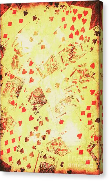 Wild West Canvas Print - Vintage Poker Background by Jorgo Photography - Wall Art Gallery