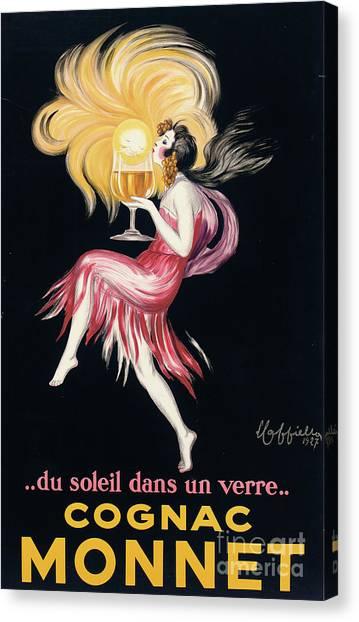 Cognac Canvas Print - Vintage Poster Cognac Monnet, 1927 by Leonetto Cappiello