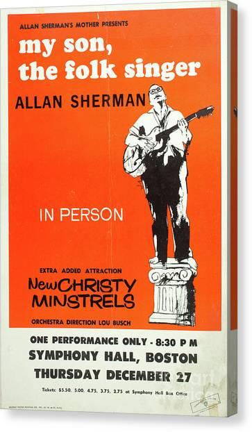 Folk Singer Canvas Print - Vintage Poster My Son The Fold Singer Allan Sherman by Edward Fielding