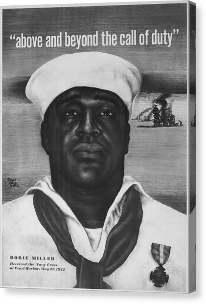 Call Of Duty Canvas Print - Vintage Poster - Pearl Harbor by Vintage Images