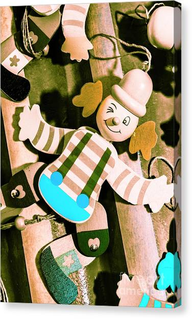 Clown Art Canvas Print - Vintage Pull-string Puppet Carnival by Jorgo Photography - Wall Art Gallery