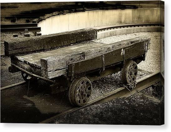 Vintage Rail Cart Canvas Print