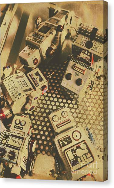 Mission Canvas Print - Vintage Robot Charging Zone by Jorgo Photography - Wall Art Gallery