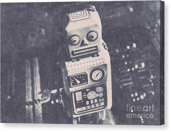 Machinery Canvas Print -  Vintage Robot Toy by Jorgo Photography - Wall Art Gallery