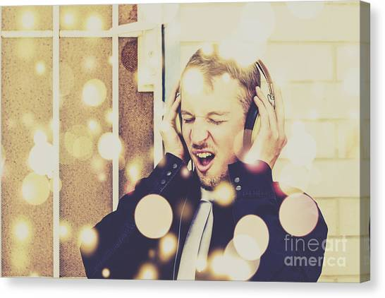 Music Genres Canvas Print - Vintage Rocker by Jorgo Photography - Wall Art Gallery