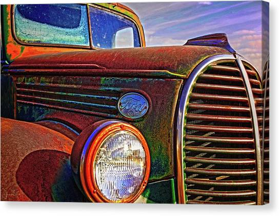 Vintage Rust N Colors Canvas Print