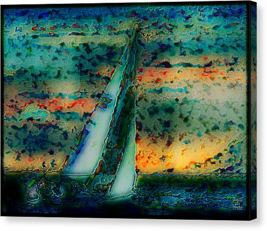 Ebsq Digital Canvas Print - Vintage Sailboat by Dee Flouton