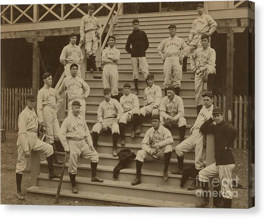 Baseball Players Canvas Print - Vintage Saint Louis Baseball Team Photo by American School