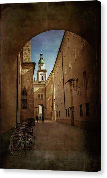 Mozart Canvas Print - Vintage Salzburg by Carol Japp