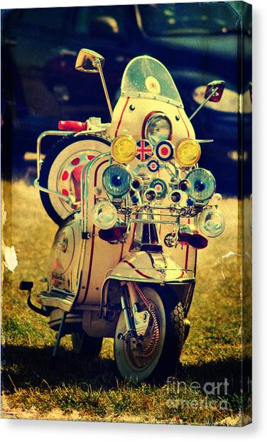 Vintage Scooter Canvas Print