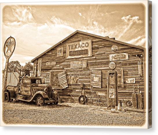 Vintage Service Station Canvas Print