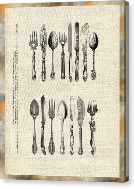 Vintage Silverware Canvas Print