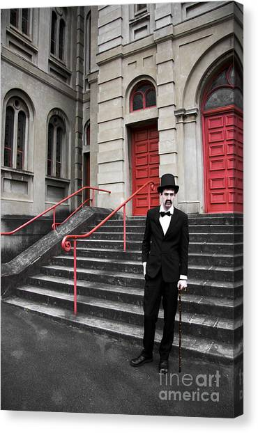 Undertaker Canvas Print - Vintage Sinister Man by Jorgo Photography - Wall Art Gallery