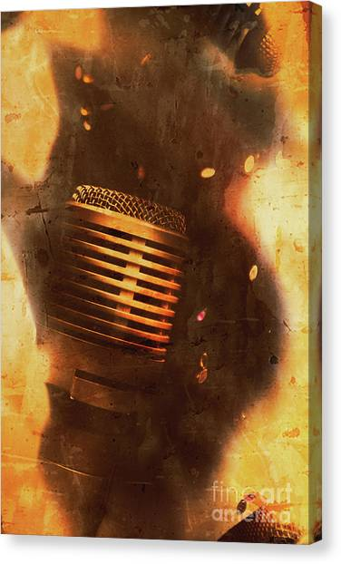 Microphones Canvas Print - Vintage Sound Check by Jorgo Photography - Wall Art Gallery