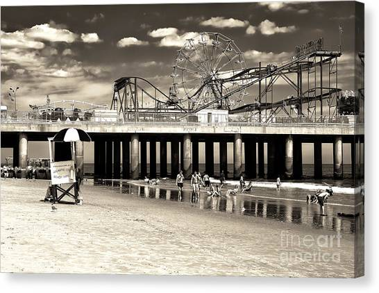 Vintage Steel Pier Canvas Print