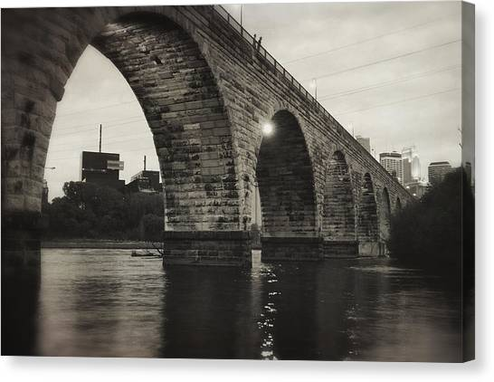 Vintage Stone Arch Bridge Canvas Print